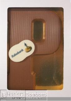 Chocoladeletter melk met logo