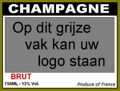 Champagnefles 30,5 cm ongevuld